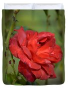 Thorny Red Rose Duvet Cover