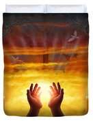 Those Who Have Departed - Religious Version Duvet Cover by Bedros Awak