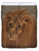 Thoughtful Lion 2 Duvet Cover