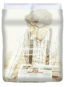 Thoughts Of A Creative Writer Duvet Cover
