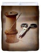 Thread And Scissors Duvet Cover