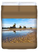 Three Brothers Rock Formation Near The Oregon Coast Duvet Cover