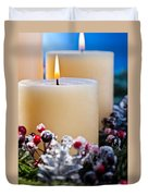 Three Burning Candles Duvet Cover