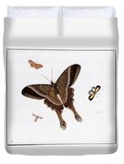 Three Butterflies And A Gnat Duvet Cover