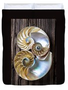 Three Chambered Nautilus Duvet Cover by Garry Gay