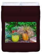 Three Colorful Pots Duvet Cover