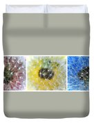 Three Dandelions In A Line Duvet Cover
