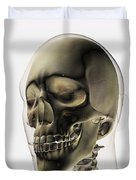 Three Dimensional View Of Human Skull Duvet Cover by Stocktrek Images