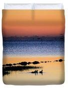 Three Ducks At Dawn Duvet Cover