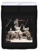 Three Elephant Circus Performance Duvet Cover