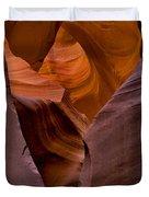 Three Faces In Sandstone Duvet Cover