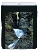 Three Falls In Watkins Glen Duvet Cover
