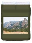 Three Flatirons Boulder Colorado Duvet Cover