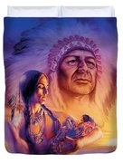 Three Generations Duvet Cover by Andrew Farley