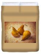 Three Golden Pears Duvet Cover