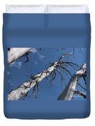 Three Gray Trees Duvet Cover