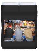 Three Guys In A Bar Duvet Cover