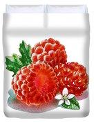Three Happy Raspberries Duvet Cover