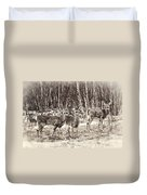 Three In The Field Duvet Cover