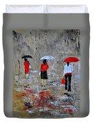 Three In The Rain Duvet Cover