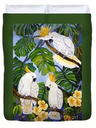 Three Is A Crowd Hand Embroidery Duvet Cover