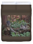 Three Is A Crowd Duvet Cover
