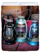 Three Kerosene Lamps Duvet Cover