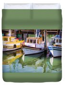 Three Little Boats Duvet Cover