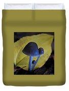 Three Little Mushrooms Duvet Cover