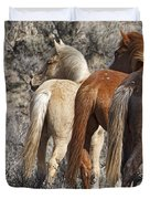 Three Long Tails Duvet Cover