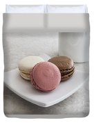 Three Macaroons Duvet Cover