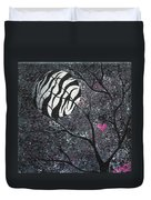 Three Moons Series - Zebra Moon Duvet Cover by Oddball Art Co by Lizzy Love