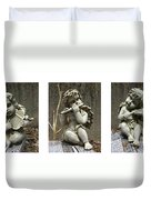 Three Musicians Triptych  Duvet Cover