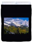 Three Needles Autumn Snow Duvet Cover