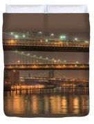Three New York Bridges Duvet Cover