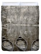Three Old Canoes Duvet Cover