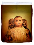 Three Old Dolls Duvet Cover