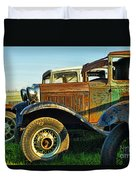 Three Old Fords Duvet Cover