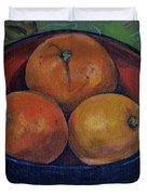 Three Oranges Duvet Cover
