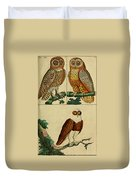 Three Owls Duvet Cover