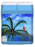Three Parrots Duvet Cover