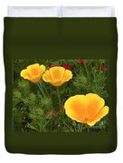 Three Poppies Duvet Cover