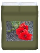Three Poppies Too Duvet Cover