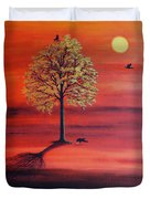 Three Ravens Duvet Cover
