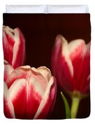 Three Red Tulips Duvet Cover