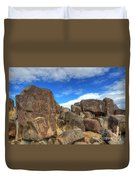 Three Rivers Petroglyphs 2 Duvet Cover