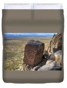 Three Rivers Petroglyphs 3 Duvet Cover