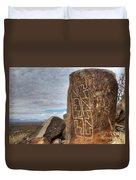 Three Rivers Petroglyphs 4 Duvet Cover