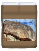 Three Rivers Petroglyphs 6 Duvet Cover