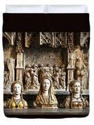 Three Saints In Marble Duvet Cover